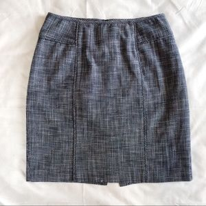 Banana Republic Tweed Blue Pencil Skirt 4
